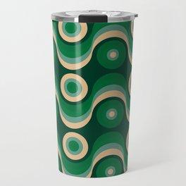 70s Optical Wallpaper Travel Mug