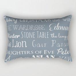Narnia Celebration - gray Rectangular Pillow