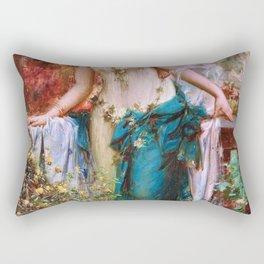 A Gentle Moment - Hans Zatzka Rectangular Pillow