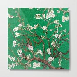 Vincent van Gogh Blossoming Almond Tree (Almond Blossoms) Emerald Sky Metal Print