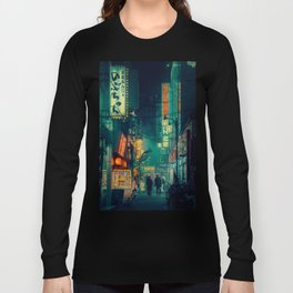 Tokyo Nights / Memories of Green / Blade Runner Vibes / Cyberpunk / Liam Wong Langarmshirt