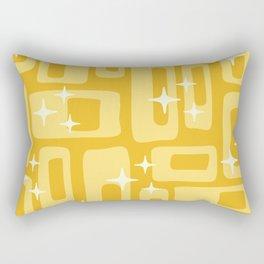 Retro Mid Century Modern Abstract Pattern 127 Yellow Rectangular Pillow