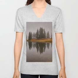 Colorado Fall Colors Panorama at Crested Butte Mountain Resort. Unisex V-Neck