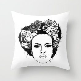 "PHOENIX AND THE FLOWER GIRL ""STEP BY STEP MOVING"" PLAIN PRINT Throw Pillow"