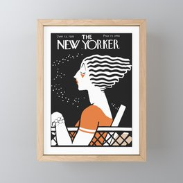 Vintage Magazine Cover, 1925 Artwork Reproduction Framed Mini Art Print