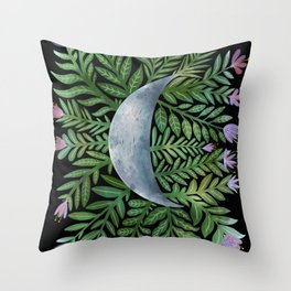 Botanical Moon Throw Pillow