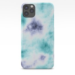 ocean tie dye iPhone Case