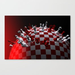 chess fantasy red Canvas Print