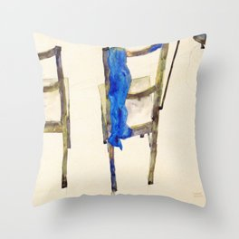 Egon Schiele - Chairs (new editing) Throw Pillow