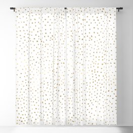 Dotted Gold Blackout Curtain