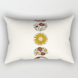 Floral Phases of the Moon Rectangular Pillow