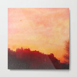 Edinburgh Castle Sunset Metal Print