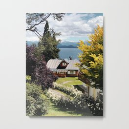 Cottage in Bariloche Metal Print