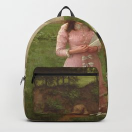 Two Sisters - The Kite Flyers by John Morgan Backpack
