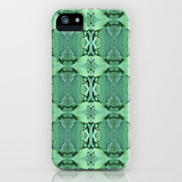 Abstract Hosta Leaf Pattern 623 iPhone Case