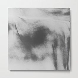 black and white lava flow Metal Print