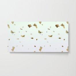 Gold Flakes Metal Print
