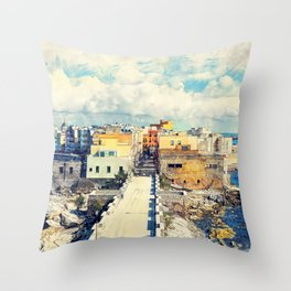 Trapani art 18 Sicily Throw Pillow