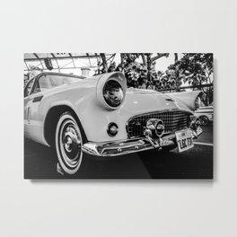 Classic 57 T-bird Black and White Photographic Print Metal Print