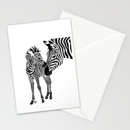 Love Stripes Two Stationery Cards
