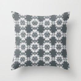 Elegant gray Ornaments Throw Pillow