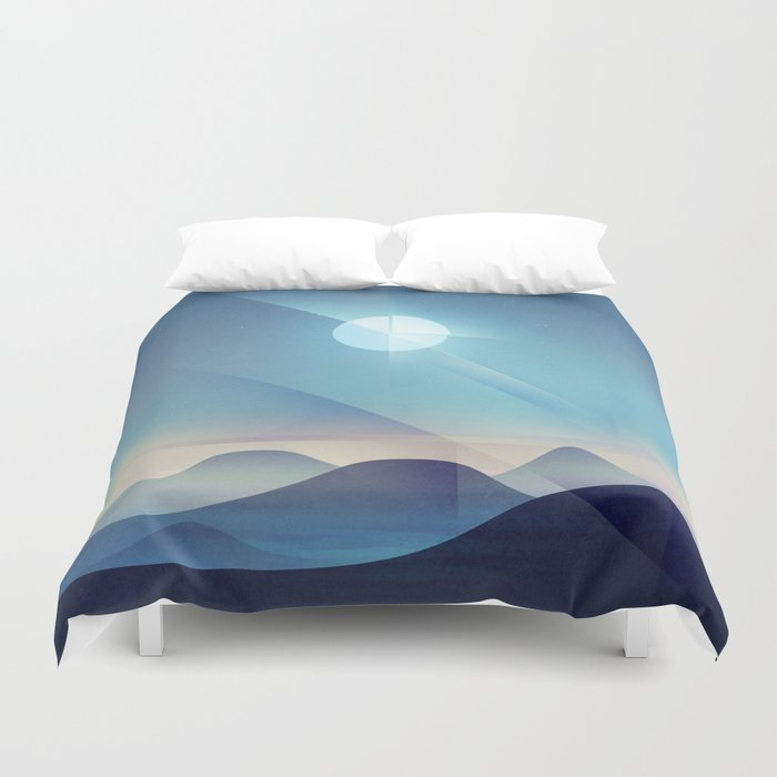 Northern Lights Abstract Duvet Cover