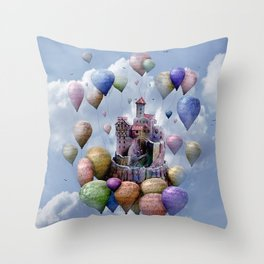 Sweet Castle Throw Pillow