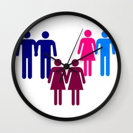 LGBT Couples Wall Clock