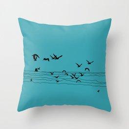 Seagull Beach by Seasons K Designs Throw Pillow