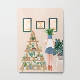Wooden floors, walls and window sills Metal Print
