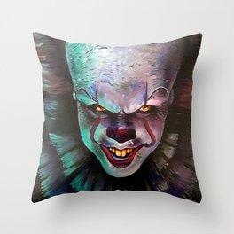 Clown it smile Throw Pillow
