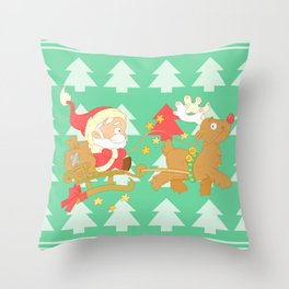 Santa 2014 Throw Pillow