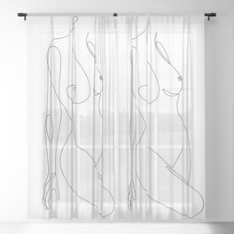 Single Nude Sheer Curtain