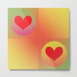 Grid of Hearts Metal Print