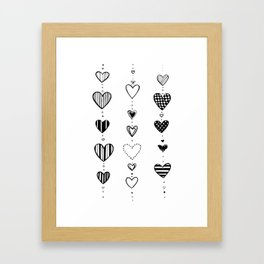 Heart garlans Framed Art Print