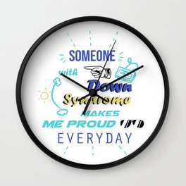 Down Syndrome Awareness Support Trisomy 21 Gift Wall Clock