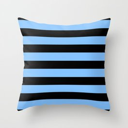 Mariniere marinière blue and black Throw Pillow