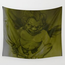 Evil Cupid (Yellow) Wall Tapestry