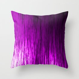 Bright texture of shiny foil of pink flowing waves on a dark fabric. Throw Pillow