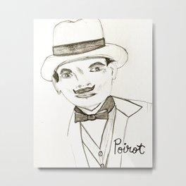 David Suchet as Hercule Poirot Metal Print