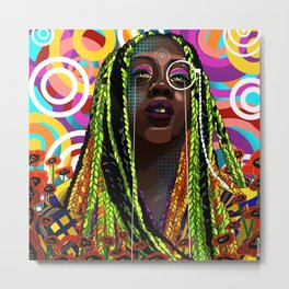 STEREOTYPES 2: Ghetto Until Proven Fashionable Metal Print