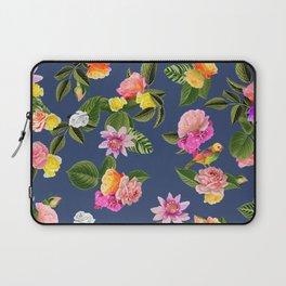 Frida Floral (Blue) Laptop Sleeve