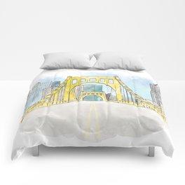Roberto Clemente Bridge Comforters