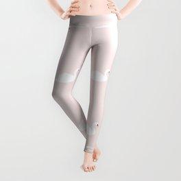Swan pattern on pink 033 Leggings