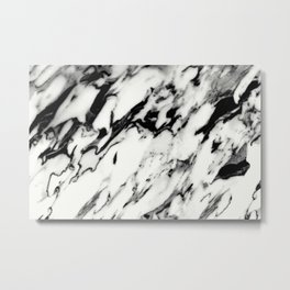 Classic White Marble Glam #1 #marble #decor #art #society6 Metal Print