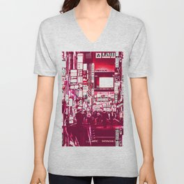 Distopia Purple Unisex V-Neck