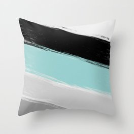 Cold winter , abstract Throw Pillow