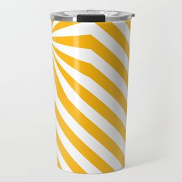 Stripes explosion - Yellow Travel Mug
