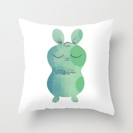 Sleepy Bunny 2 Throw Pillow