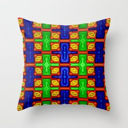 Strong pattern, soft colors ... Throw Pillow